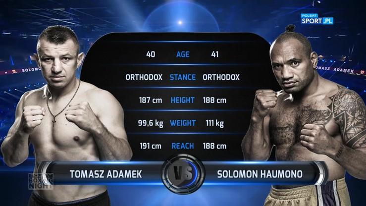 2017-06-24 Tomasz Adamek - Solomon Haumono. Skrót walki