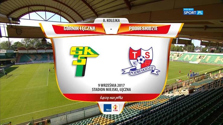 2017-09-09 Górnik Łęczna - Podbeskidzie Bielsko-Biała 1:0. Skrót meczu