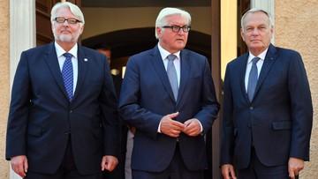 28-08-2016 15:30 MSZ Polski, Francji i Niemiec: chcemy wzmocnić UE