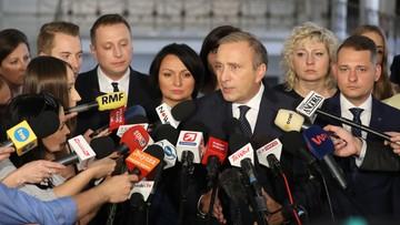 19-07-2017 14:24 Schetyna do prezydenta: oczekujemy trzy razy weto
