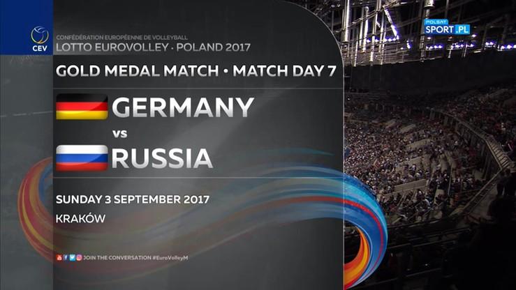 Finał Eurovolley 2017: Rosja - Niemcy 3:2. Skrót meczu