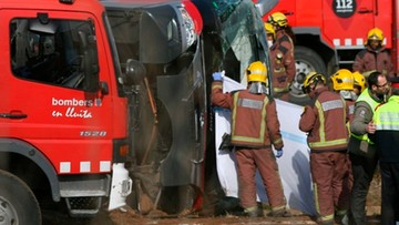 20-03-2016 18:43 Polak wśród rannych w wypadku autokaru ze studentami w Hiszpanii