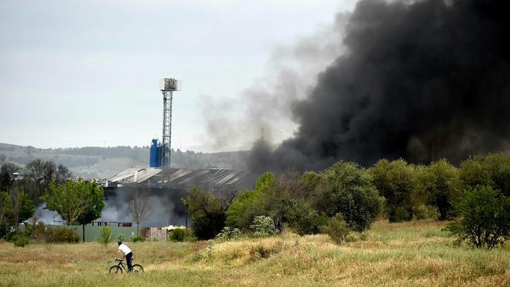 30 rannych w pożarze zakładów chemicznych pod Madrytem