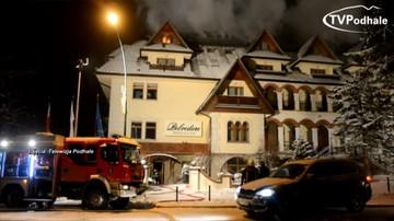 """20-10-2017 17:45 Poszkodowani w pożarze hotelu Belvedere goście walczą o odszkodowania. Ustalenia reporterów """"Interwencji"""""""