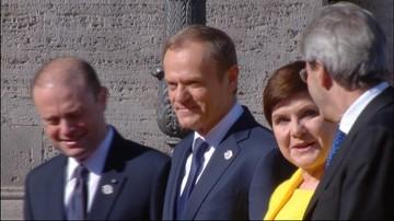 25-03-2017 08:35 Przedstawiciele państw Unii Europejskiej na Kapitolu. Przed południem podpiszą Deklarację Rzymską