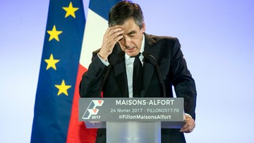 24-02-2017 22:57 Będzie sądowe śledztwo ws. zatrudnienia żony. Kandydat na prezydenta Francji Francois Fillon w większych opałach