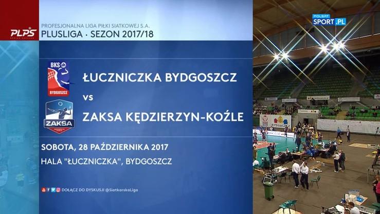 Łuczniczka Bydgoszcz - ZAKSA Kędzierzyn Koźle 0:3. Skrót meczu