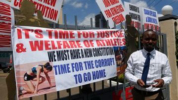 2015-11-24 Kenijscy lekkoatleci zakończyli okupację siedziby federacji