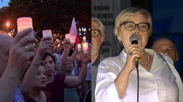 24-07-2017 21:47 Gersdorf: dziękuję, że uwierzyliście, że nie bronimy siebie, tylko Konstytucji