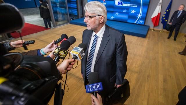 Waszczykowski robi wszystko, by dziś nie było wyborów na szefa Rady Europejskiej