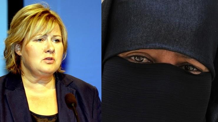 Premier Norwegii: nie zatrudniłabym kobiety w nikabie