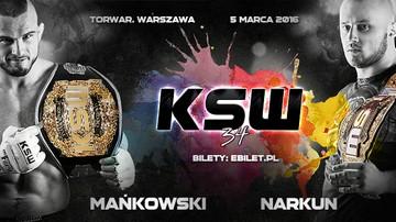 2015-11-29 KSW 34 już 5 marca w Warszawie! Mańkowski i Narkun bronią tytułów