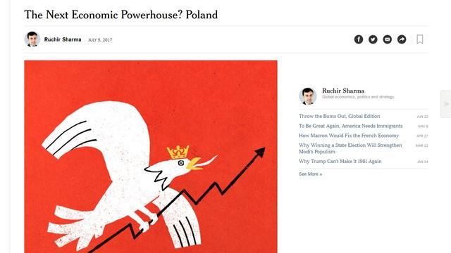 """""""NYT"""": Europa Wschodnia rośnie w siłę, Polska może stać się potęgą gospodarczą"""