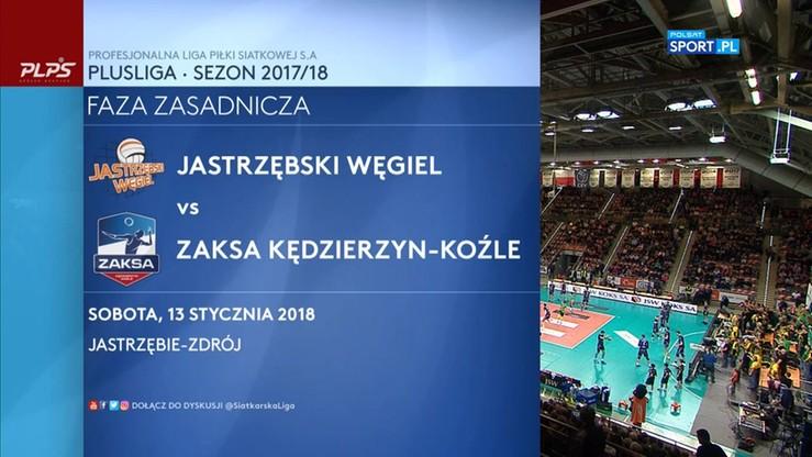 Jastrzębski Węgiel - ZAKSA Kędzierzyn-Koźle 1:3. Skrót meczu