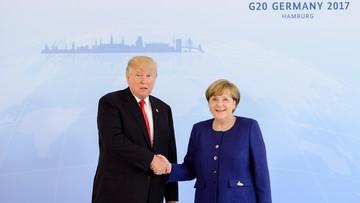 """06-07-2017 20:19 Merkel i Trump rozmawiali o """"punktach zapalnych"""""""