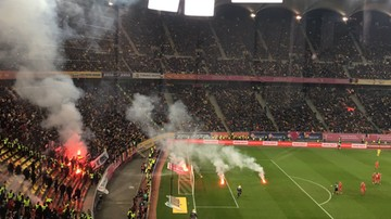 2016-11-11 Rumunia - Polska: Incydenty z udziałem kibiców na stadionie w Bukareszcie