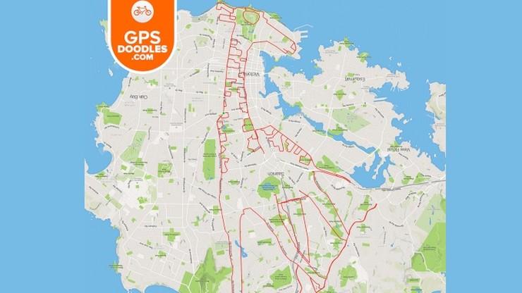 Kanadyjczyk rysuje niezwykle skomplikowane wzory przy użyciu roweru i aplikacji GPS