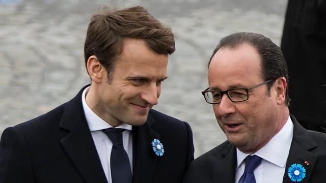 Francja: Pierwszy oficjalny występ Macrona jako prezydenta elekta