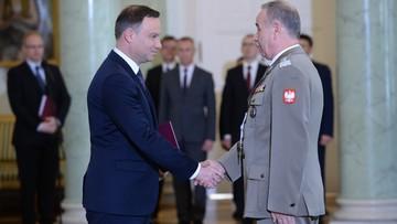 04-05-2016 10:12 Prezydent wręczył gen. Gocułowi akt mianowania na szefa Sztabu Generalnego