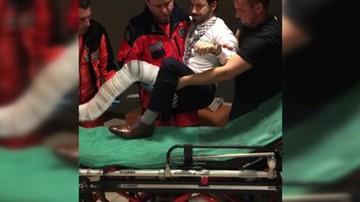 """08-11-2015 21:36 Wypadek w programie """"Państwo w Państwie"""". Prowadzący złamał nogę"""