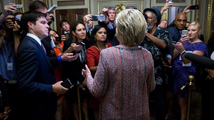 Donald Trump dogania w sondażach Hillary Clinton