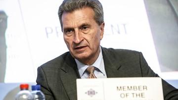 """Komisarz UE Oettinger w prywatnym samolocie niemieckiego biznesmena """"silnie związanego z Kremlem"""""""