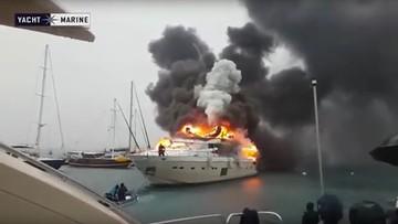 25-01-2016 11:25 W tureckim porcie spłonął luksusowy jacht rosyjskiego milionera