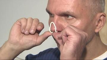 Firma opatentowała nakładki na nos, które filtrują zanieczyszczenia z powietrza