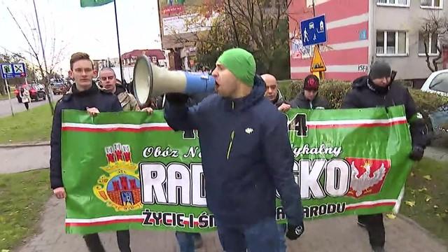 ONR zorganizował w Radomsku antyimigrancki marsz