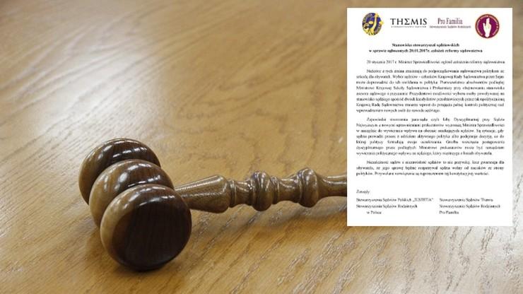 Cztery sędziowskie stowarzyszenia krytykują pomysły Ziobry ws. reformy sądownictwa
