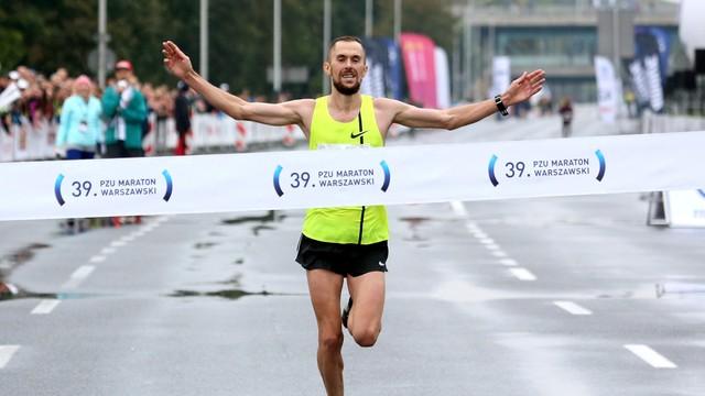 Maraton Warszawski - Błażej Brzeziński zwycięzcą z minimum na mistrzostwa Europy