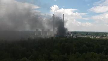 28-07-2017 21:52 Pożar w elektrowni przy polskiej granicy. Powietrze po polskiej stronie w normach