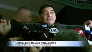 Maradona opłakuje śmierć Fidela Castro: Był dla mnie jak ojciec
