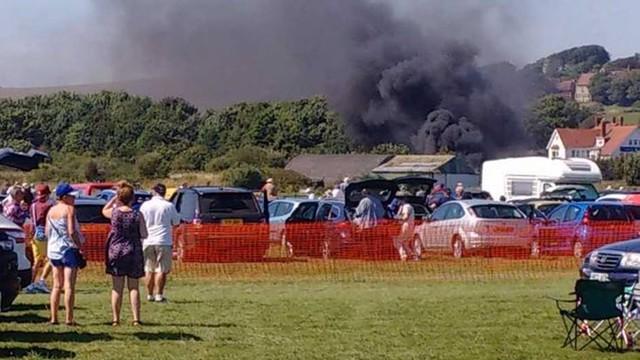 W.Brytania: samolot rozbił się podczas pokazów lotniczych, 7 zabitych