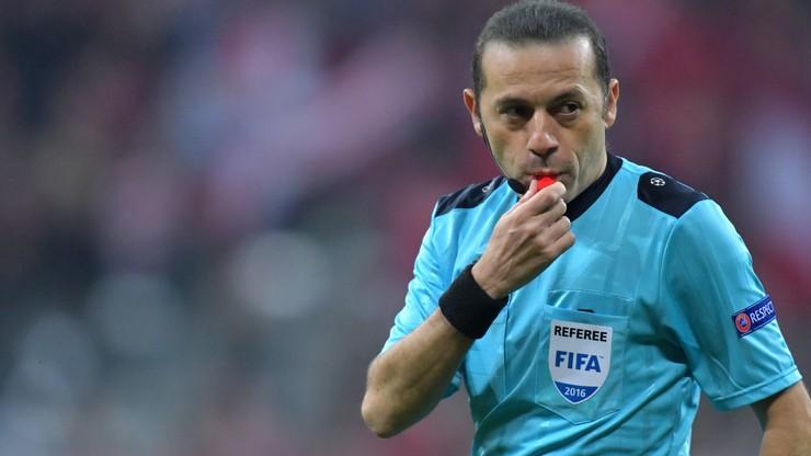 Euro 2016: Cakir sędzią głównym meczu Portugalia - Islandia
