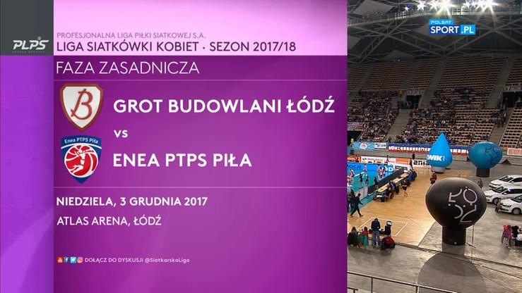 Budowlani Łódź - PTPS Piła 3:0. Skrót meczu
