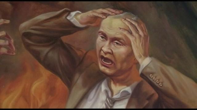 Sąd Ostateczny nad Putinem - dzieło Ukraińskich artystów