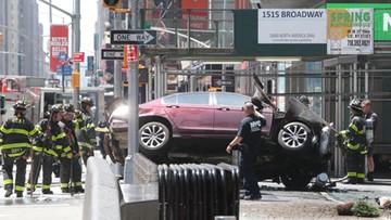 Rozpędzony samochód wjechał w ludzi na nowojorskim Times Square
