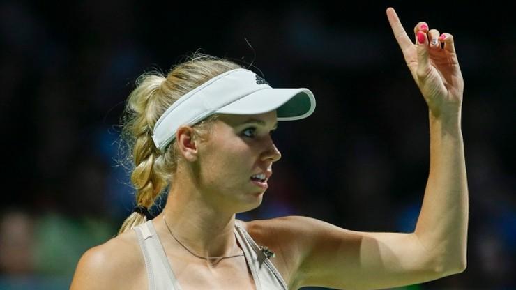 Wozniacki zagrała dla Radwańskiej. Polka w półfinale WTA Finals