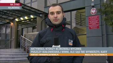 Aktywiści, którzy blokowali wycinkę Puszczy Białowieskiej winni, ale sąd nie wymierzył kary