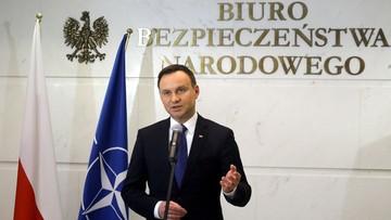 22-03-2016 15:42 Prezydent: nie ma sygnałów, żebyśmy mieli w Polsce zagrożenie