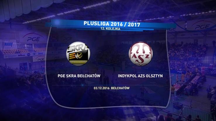 2016-12-03 PGE Skra Bełchatów - Indykpol AZS Olsztyn 3:1. Skrót meczu