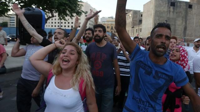 Liban: kolejna antyrządowa demonstracja w Bejrucie