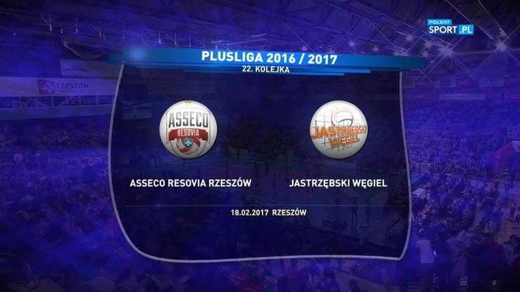 Asseco Resovia - Jastrzębski Węgiel 1:3. Skrót meczu