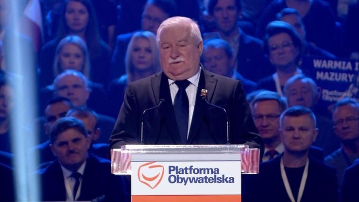 Wałęsa do PO: właściwie przegraliście na własne życzenie