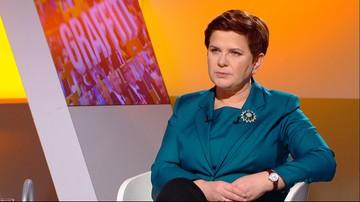 """""""Wotum nieufności to akt polityczny. Doskonały moment do debaty"""". Beata Szydło dla Polsat News w programie """"Graffiti"""""""
