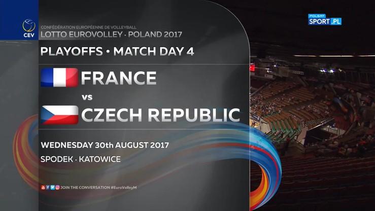 Francja - Czechy 1:3. Skrót meczu