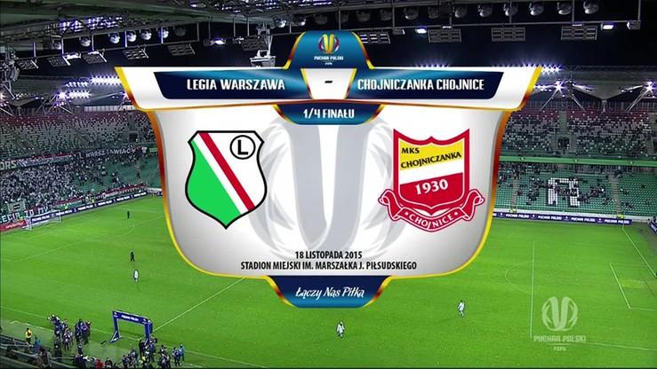 Puchar Polski: Legia - Chojniczanka 4:1. Skrót meczu