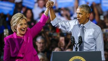 """06-07-2016 05:56 """"Ameryka będzie z niej dumna"""". Obama pomaga Clinton na wspólnym wiecu przedwyborczym"""