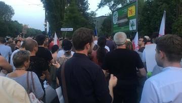 2017-07-22 Protest przed domem prezesa PiS na warszawskim Żoliborzu